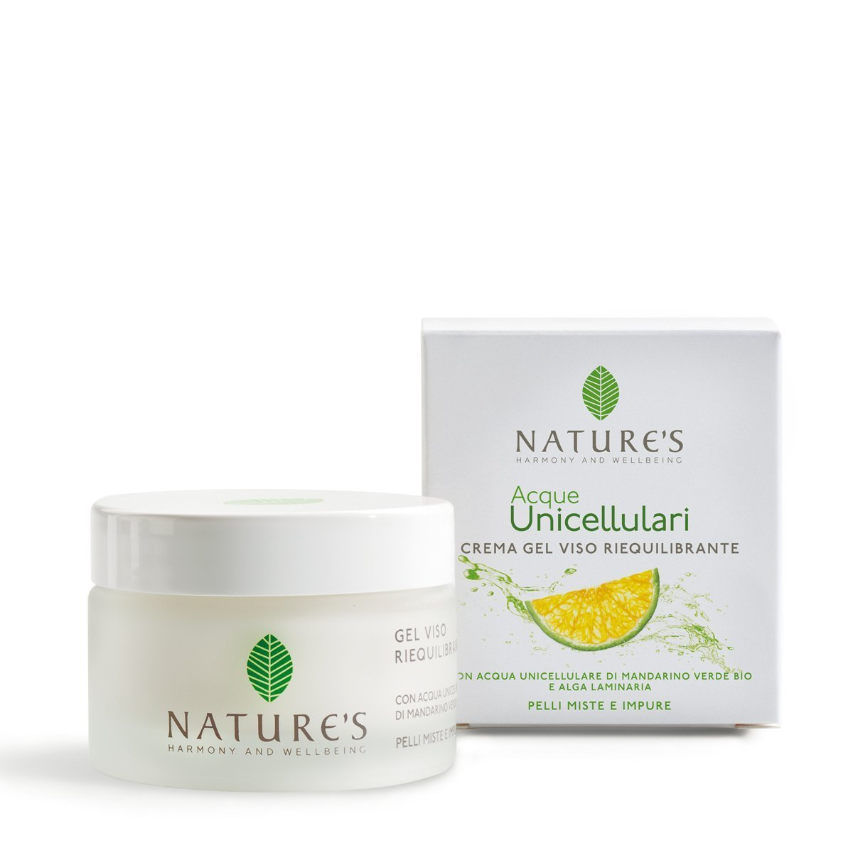Crema Gel Viso Riequilibrante Acque Unicellulari Nature's