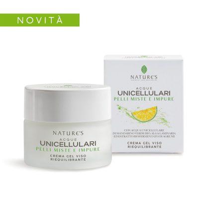 Crema Gel Viso Riequilibrante Nature's Acque Unicellulari
